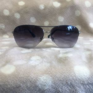 Coach Metal Semi Rimless Aviator Sunglasses